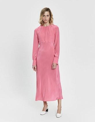 Shirred Neck Dress