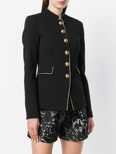 Piped Military Style Blazer