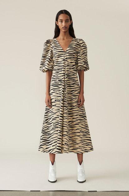 Printed Cotton Poplin Maxi Dress