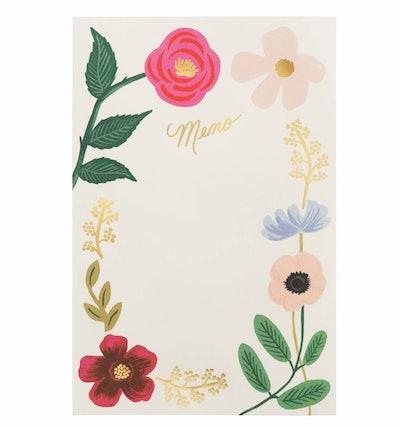 Wildflowers Tear-Off Memo Notepad