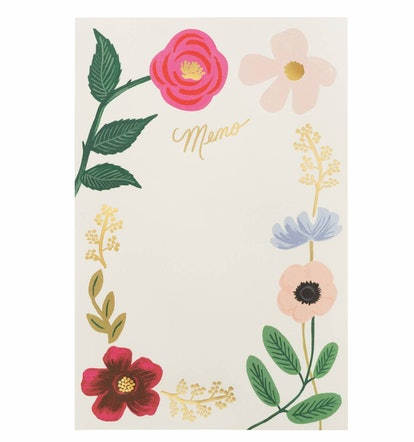Wildflowers Tear-Off Memo Notepad
