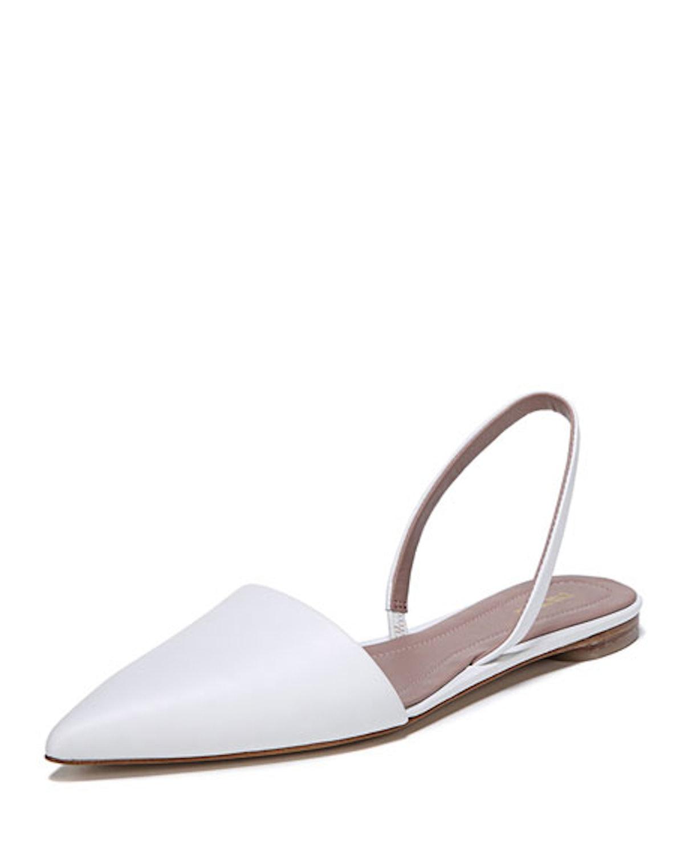 Koko Slingback Ballet Flats in White