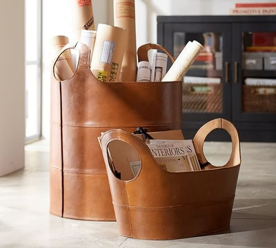 Hayes Leather Floor Tote