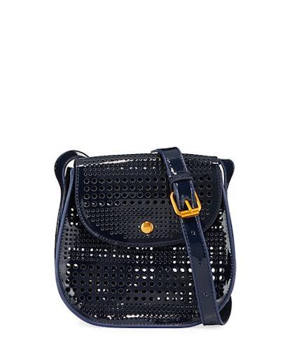 Neiman Marcus Perforated Saddle Bag