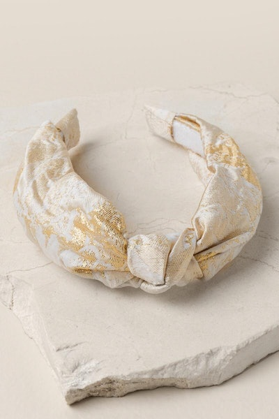 Tatum Lurex Brocade Headband