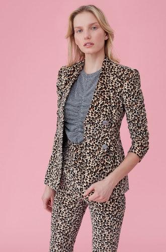 Leopard Print Velveteen Jacket