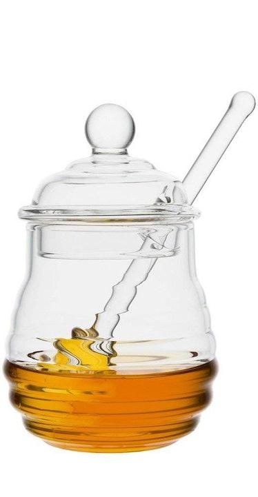 Mkono Glass Honey Jar with Dipper