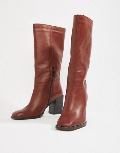 Clara Square Toe Knee Boots
