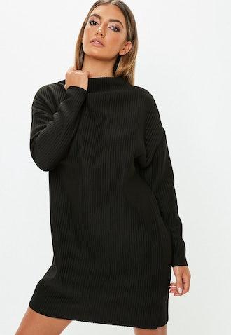 Oversized Ribbed Sweater Dress