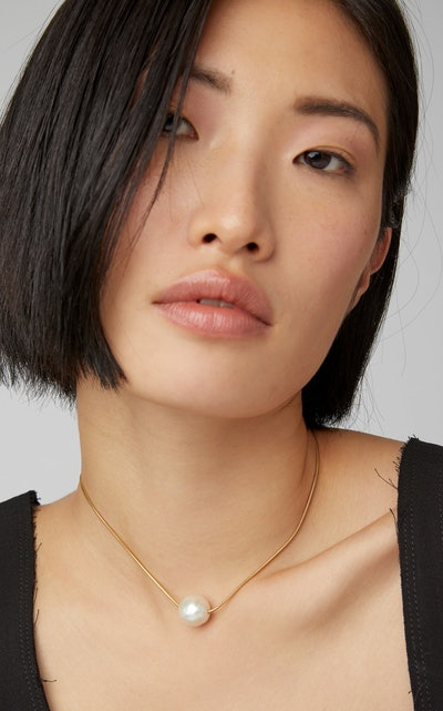 18K Gold Vermeil Pearl Necklace