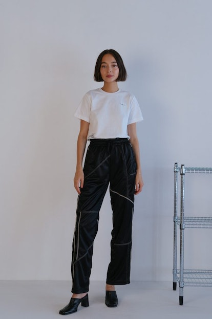 DC Deconstructed Track Pants In Jet Black