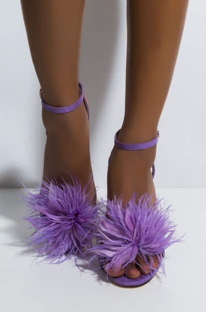 YOU DID IT FEATHER STILETTO SANDAL