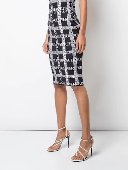 Logo Printed Pencil Skirt