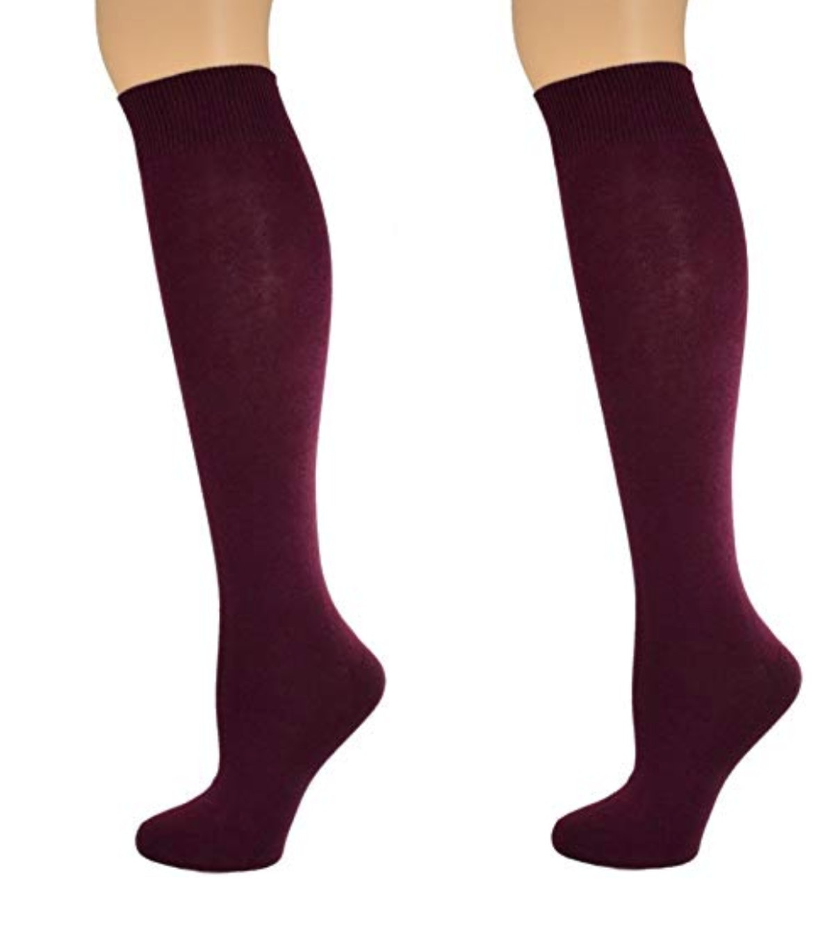 Sierra Socks Girl's School Uniform Knee High Cotton Socks