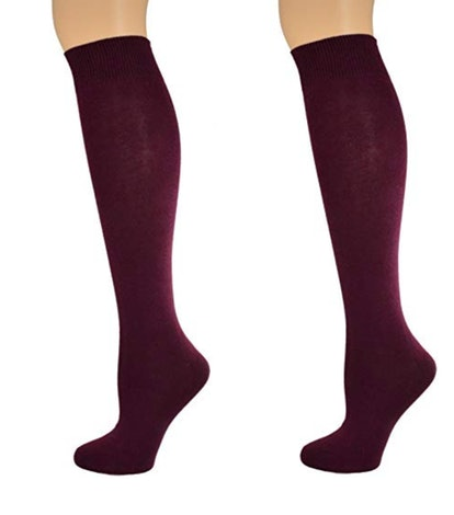 Sierra Socks Girl's School Uniform Knee High Cotton Socks