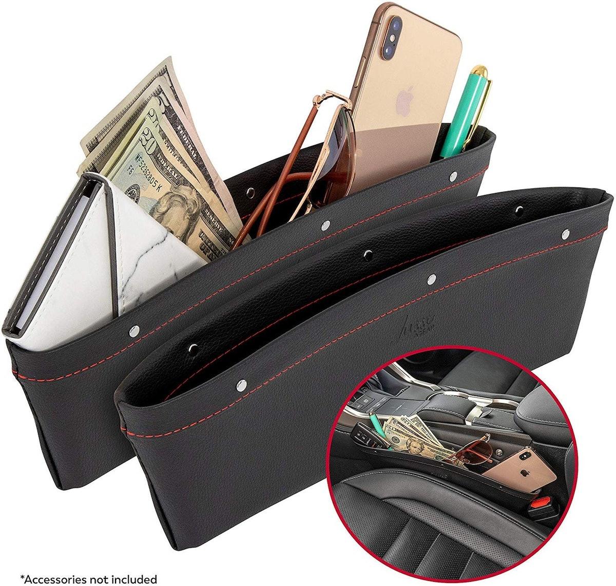 Lusso Gear 2-In-1 Car Seat Organizer