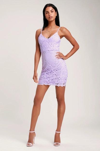 Perfect Love Lavender Lace Mini Dress