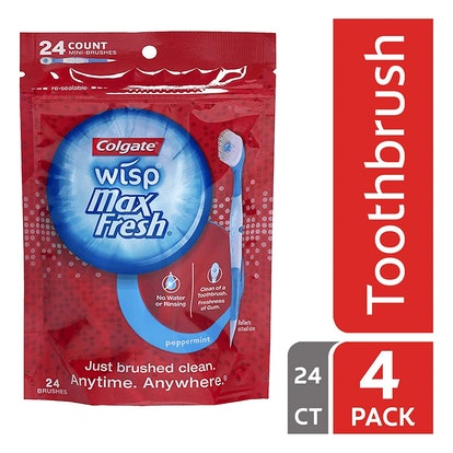 Colgate Max Fresh Wisp Disposable Mini Toothbrushes (24-Pack)