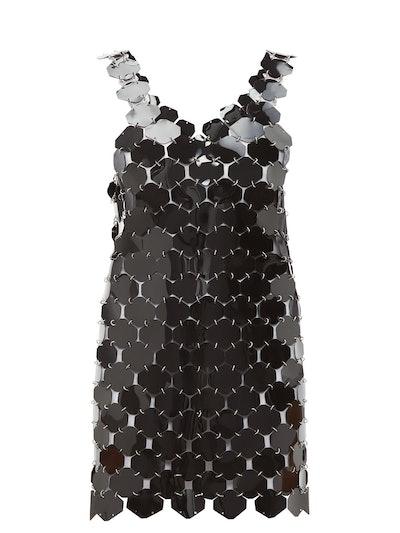 Chainmail Hexagonal-Sequin Mini Dress