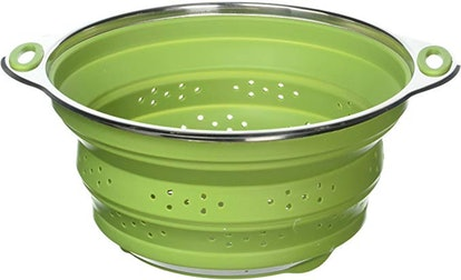 Chef Frog Collapsible Silicone Colander/Strainer with Stainless Steel Base