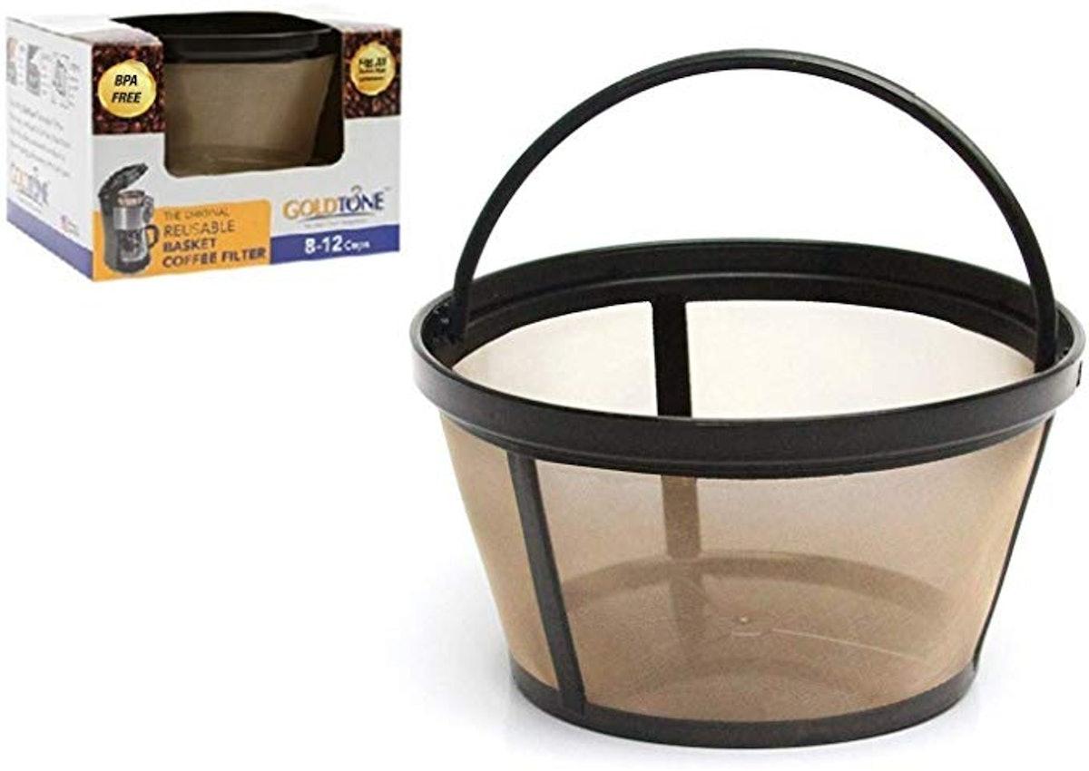 GOLDTONE Reusable 8-12 Cup Basket Coffee Filter