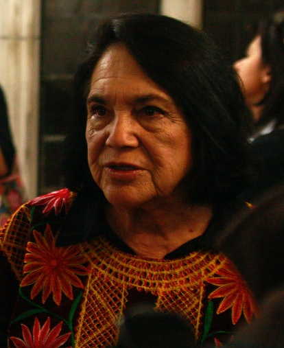 Latinx activist Dolores Huerta, one of many famous mexican activists, was key in the labor rights mo...