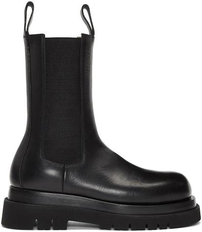 Black Mid-Calf Chelsea Boots