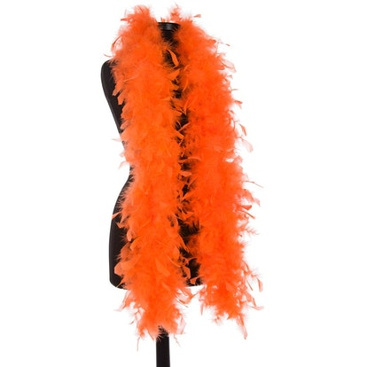 Orange 40 Gram Chandelle Feather Boas - 6 Feet Long - Use as Trim or Wear as a Scarf - Halloween Party Favors - Decorations - Feather Trim