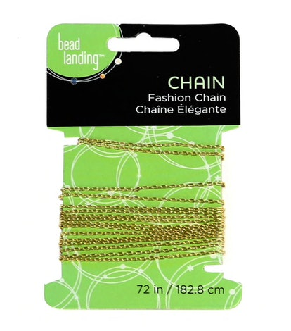 "Bead Landing Mini Drawn Cable Chain in ""Gold"""