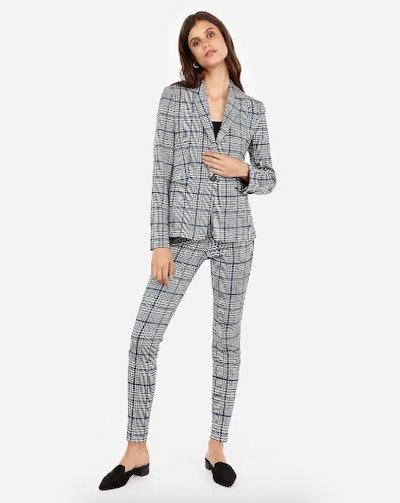 Herringbone Stretch Skinny Pant Suit