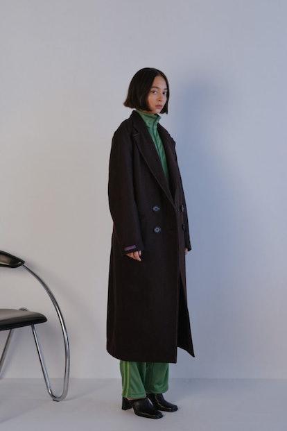 The Pintuck Overcoat In Mid-Century Brown