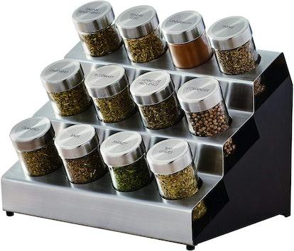 Kamenstein Tilt 12-Jar Countertop Spice Rack Organizer