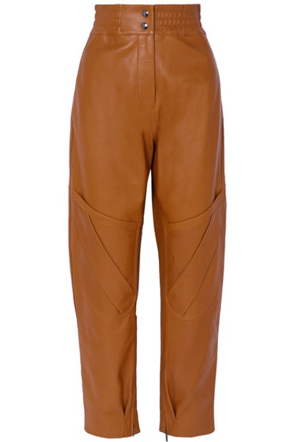 Louiza Leather Tapered Pants