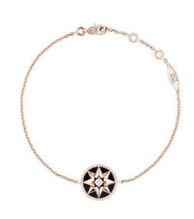 Rose des Vents Bracelet, 18k Pink Gold, Diamond And Onyx