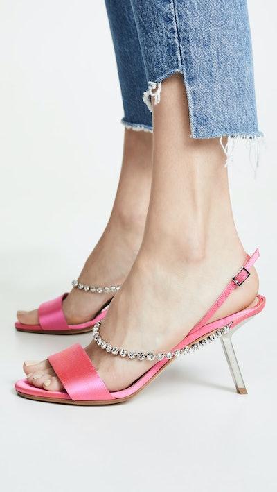 Satin Strass Sandals