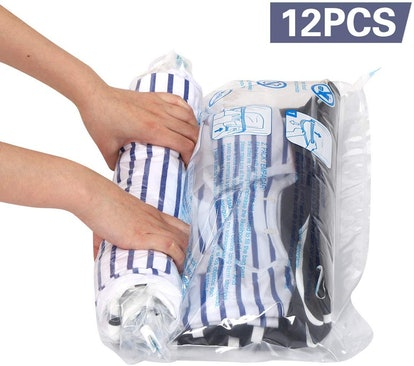 Hibag Travel Compression Bags (Set Of 12)