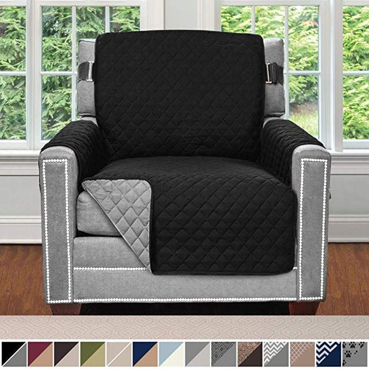 Sofa Shield Original Patent Pending Reversible Chair Slipcover