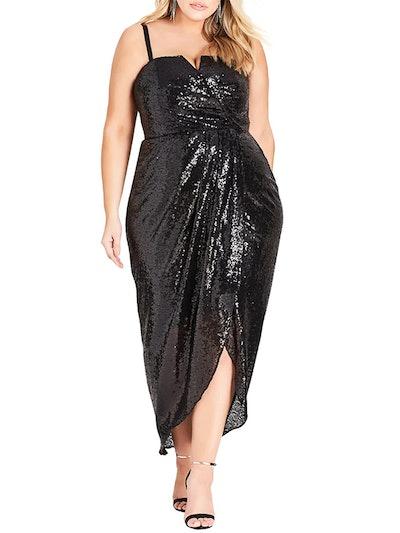 Siren Sequin Convertible Strapless Gown