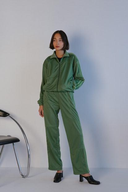 DC Deconstructed Track Jacket In Aloe Vera Green