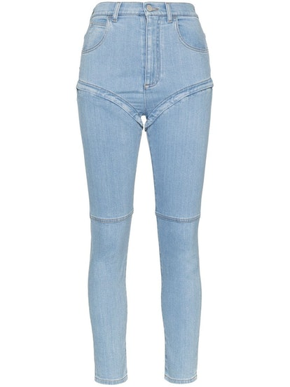 Detachable-Leg Skinny Jeans