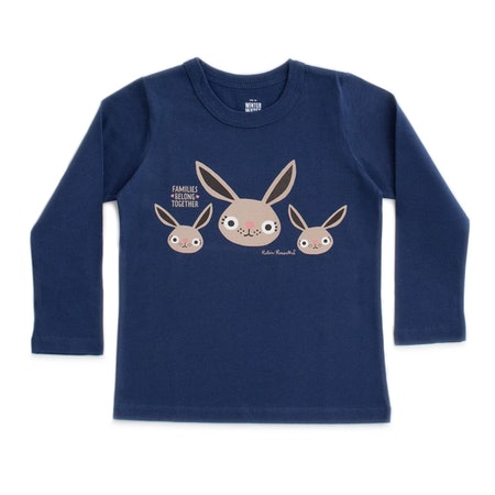 Families Belong Together x WWF long-sleeved tee - Bunnies By Robin Rosenthal