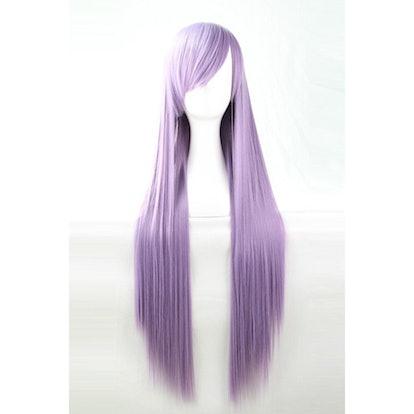 Light Purple Harajuku Heat Resistant Long Straight Anime Cosplay Wig