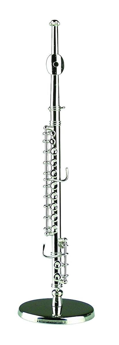 "Broadway 5.75"" Silver Flute Replica Miniature Musical Music Instrument"