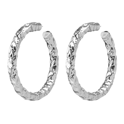 "2"" Maeve Hammered Hoops"