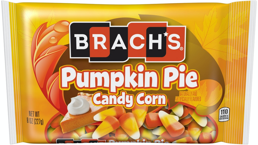 Brach's new Candy Corn for 2019 includes a Pumpkin Pie Candy Corn flavor.