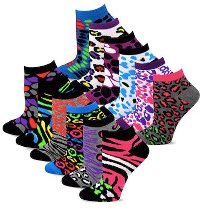 TeeHee Women's Fashion No Show/Low cut Fun Socks (12-Pack)
