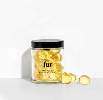 Fur's new Bath Drops inside jar
