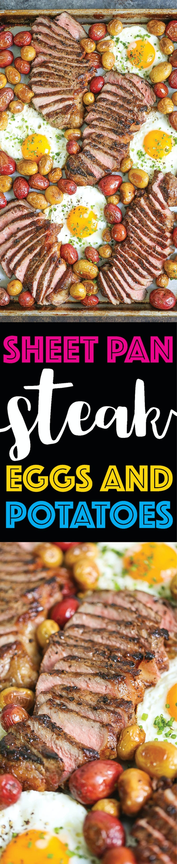 sheet pan recipes with steak, sheet pan steak eggs and potatoes