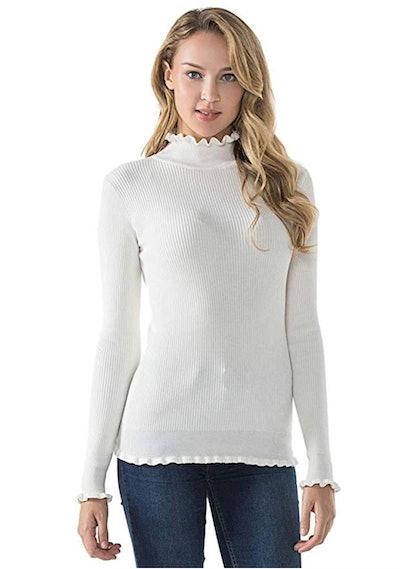 Lynz Pure Women's Mock-Neck Sweater