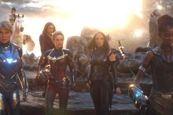 Brie Larson and other Female Marvel Superheroes in Avengers: Endgame